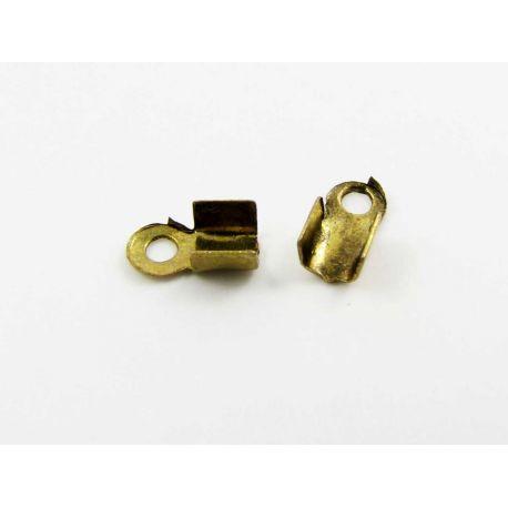 Apdares daļa, auklas saspraude, izturēts zelts, 3x2,4 mm