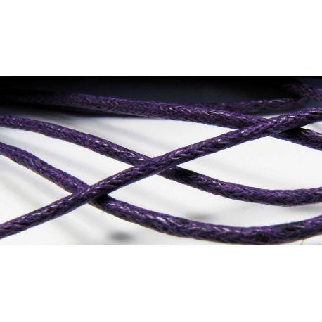 Vaškuota medvilninė virvelė, tamsiai violetinės spalvos 1,5 mm