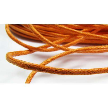 Vaškuota medvilninė virvelė, oranžinės spalvos 1,5 mm