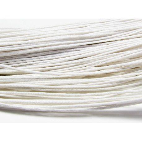 Vaškuota medvilninė virvelė, baltos spalvos 1.00 mm