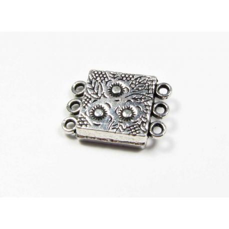 Magnetic classing aged silver color 3 holes 19x13