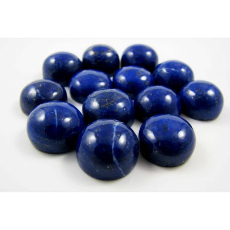Natural Lapis Lazuli cabochon, round shape 12 mm from Afghanistan