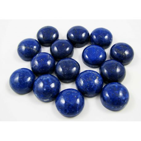 Natural Lapis Lazuli Cabochon, round shape 16 mm from Afghanistan