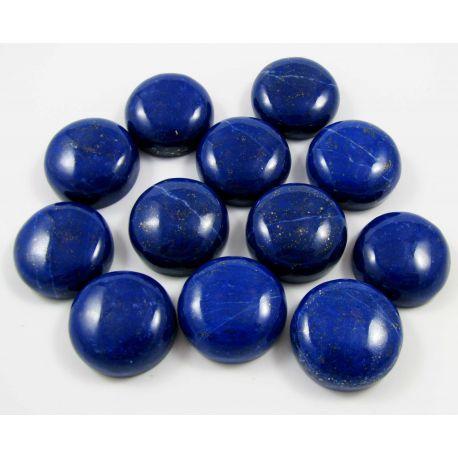 Natūralus Lapis Lazuli kabošonas, apvalios formos 20 mm iš Afganistano