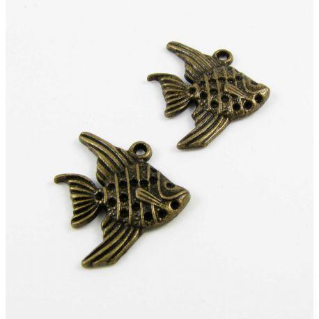 """Kulons """"Žuvytė"""", bronzas vecumā, 21x19 mm"""