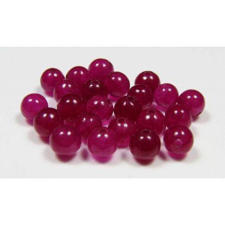 Jade beads,purple, round shape, 4 mm