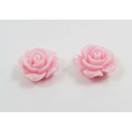 """Kamėja """"Rožytė"""" skirta papuošalų gamybai rožinės spalvos 14x6 mm"""