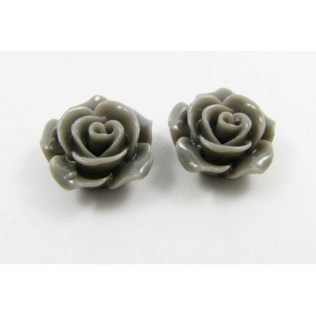 """Kamėja """"Rožytė"""" skirta papuošalų gamybai pilkos spalvos 14x6 mm"""