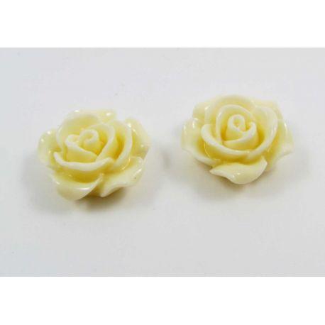 """Kamėja """"Rožytė"""" skirta papuošalų gamybai geltonos spalvos 14x6 mm"""