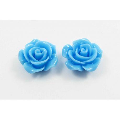 "Kama ""Rožytė"" for jewelry making blue 14x6 mm"