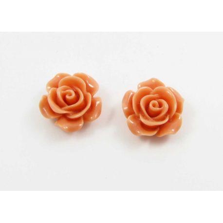 """Kamėja """"Rožytė"""" skirta papuošalų gamybai oranžinės spalvos 14x6 mm"""