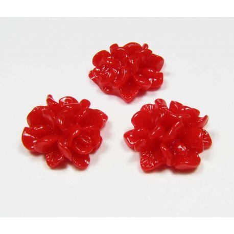 Kamea - zieds juvelierizstrādājumu izgatavošanai sarkanā krāsā 15x15 mm
