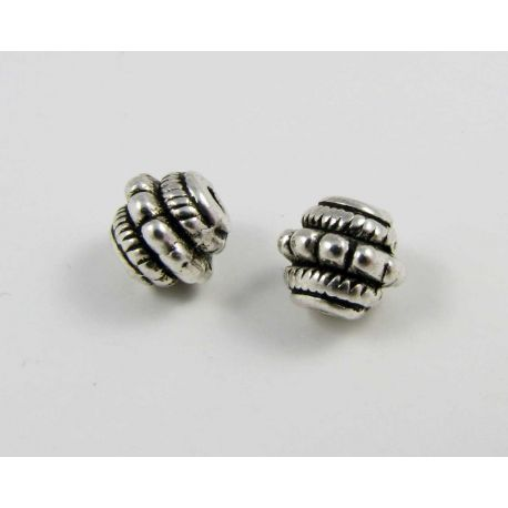 Insert aged silver color 7x7 mm