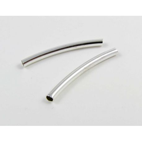Insert for the manufacture of jewelry silver tube shape 30x3 mm