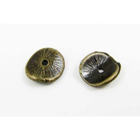 Intarpas skirtas papuošalų gamybai sendintos bronzinės spalvos 10x9 mm