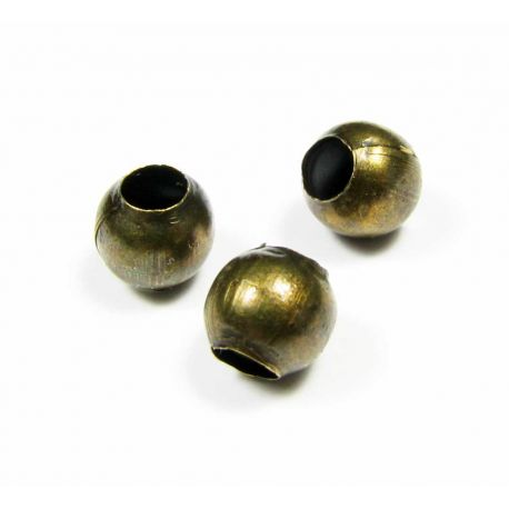 Insert for the manufacture of jewelry aged bronze color round shape 6 mm