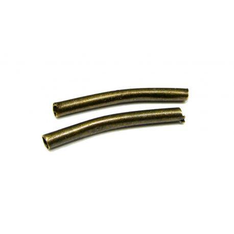 Intarpas skirtas papuošalų gamybai sendintos bronzinės spalvos vamzdelio formos 20x2 mm
