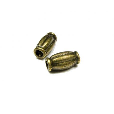 Intarpas skirtas papuošalų gamybai sendintos bronzinės spalvos 10x5 mm