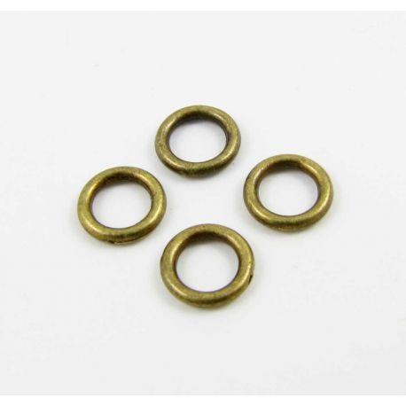 Single rings closed, bronze 6 mm
