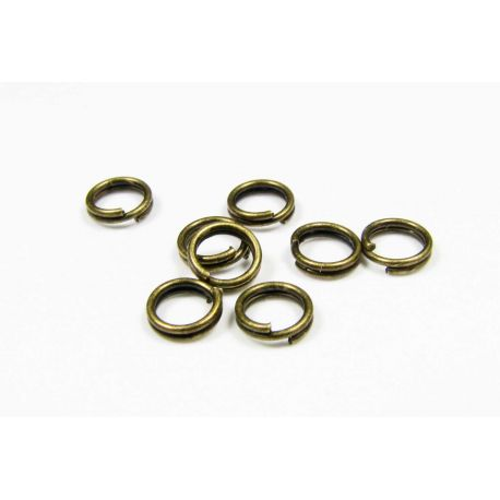 Double rings for the manufacture of jewelry aged bronze color 5 mm