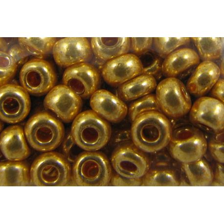 Preciosa Seed Beads (18581) gold color 50 g