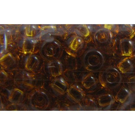 Preciosa Seed Beads (10070) transparent amber color 50 g