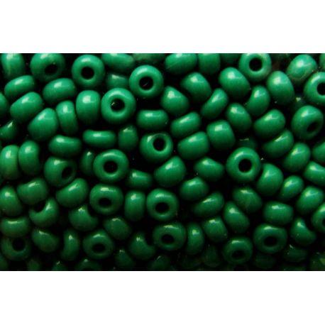 Preciosa biseris (53240) tamsiai žalios spalvos 50 g