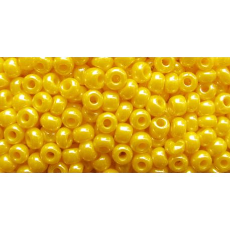 Preciosa Seed Beads (88130) mother-of-pearl yellow 50 g