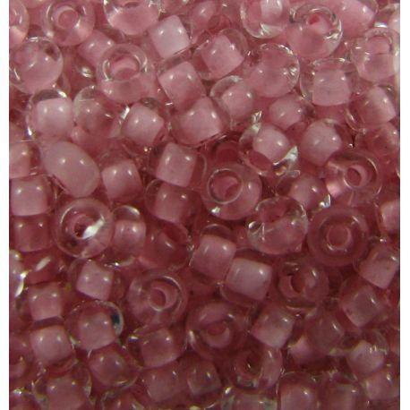 Preciosa Seed Beads (38394-10) transparent pink color 50 g