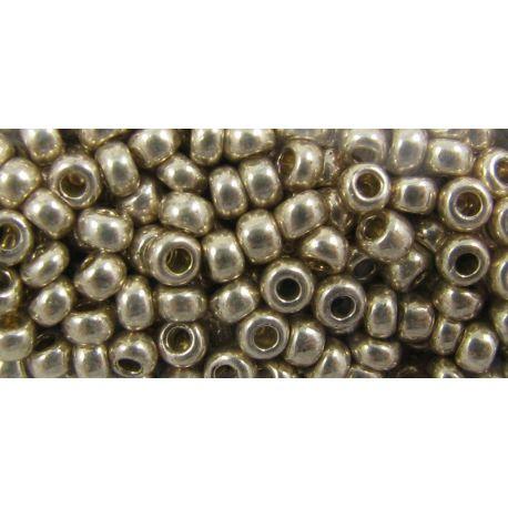 Preciosa Seed Beads (18113-10) shiny silver color 50 g