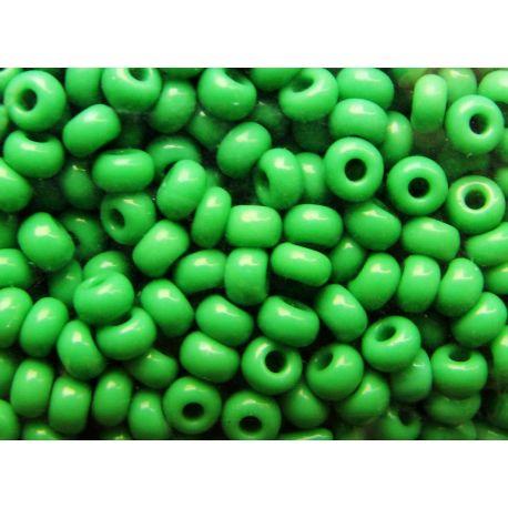 Preciosa Seed Beads (53250-10) bright green 50 g