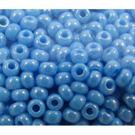 Preciosa Seed Beads (64020-10) pearly bright blue 50 g
