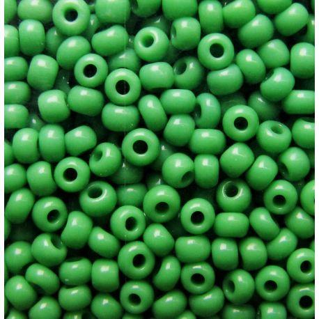 Preciosa rocailles biseris (53230-10) ryškiai žalios spalvos 50 g