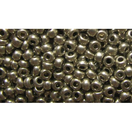 Preciosa Seed Beads (18542-10) dark silver color 50 g