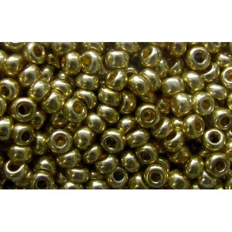 Preciosa Seed Beads (18181-10) gold color 50 g
