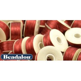 Beadalon Thread, Red D Size 58.5 m