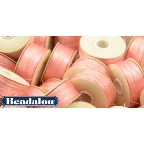 Beadalon Nymo siūlas, rožinės spalvos D dydis 58,5 m