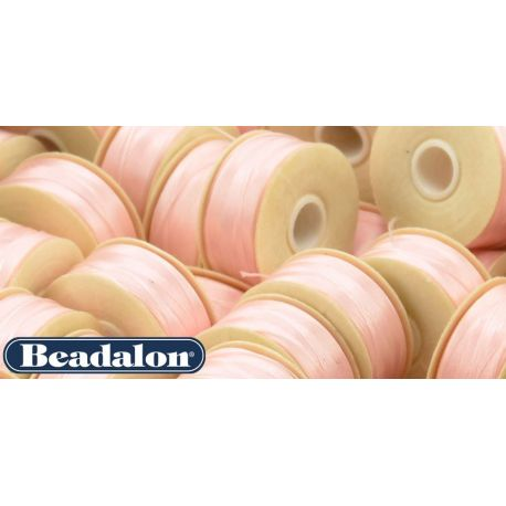 Beadalon Thread, Light Pink Size D 58.5 m