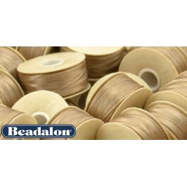 Beadalon Thread, Beige D Size 58.5 m