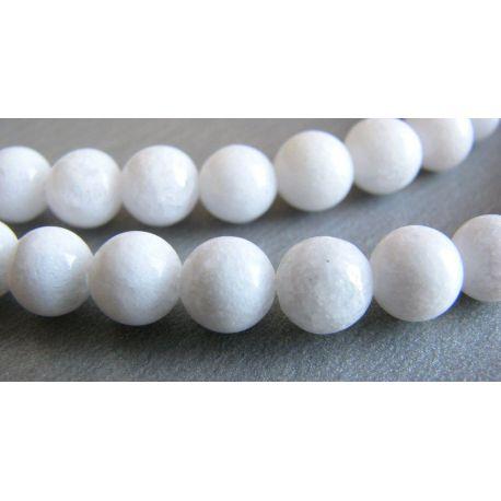Jade beads white round shape 6mm