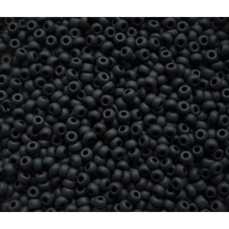 Preciosa biseris (00156-11) matinės juodos spalvos 50 g