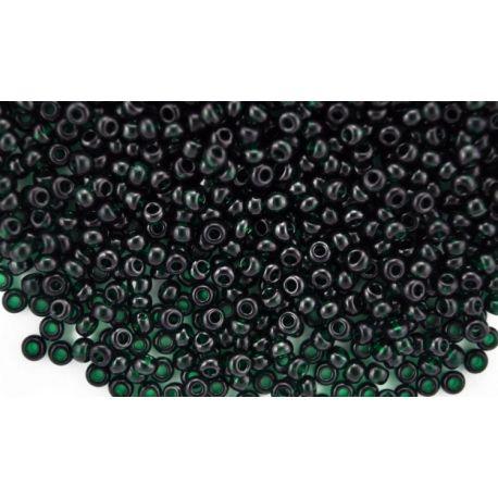 Preciosa biseris (50150-10) skaidrios tamsiai žalios spalvos 50 g