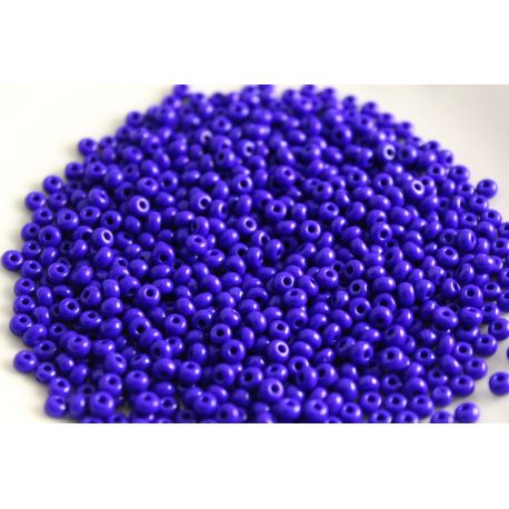 Preciosa Seed Beads (33060-8) bright blue-purple 50 g