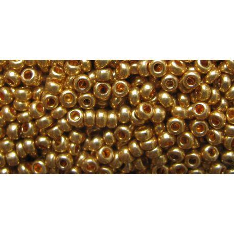 Preciosa Seed Beads (18581-11) gold color 50 g