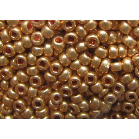 Preciosa Seed Beads (18583-11) shiny gold color 50 g