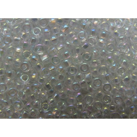 Preciosa Seed Beads (58205-11) transparent color with AB coating 50 g
