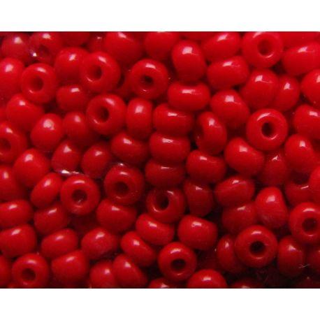 Preciosa Seed Beads (93190-11) bright red 50 g