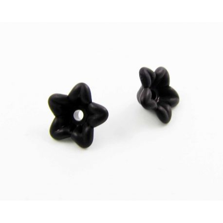 "Acrylic beads ""Flower"" black 10x4 mm"