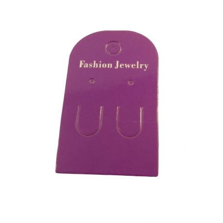 Card for earrings, purple 60x35 mm