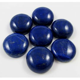 Natural Lapis Lazuli Cabochon, round shape 25 mm from Afghanistan